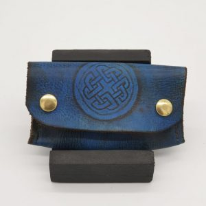 Blue Card Wallet by Len Canton - market house craftworks