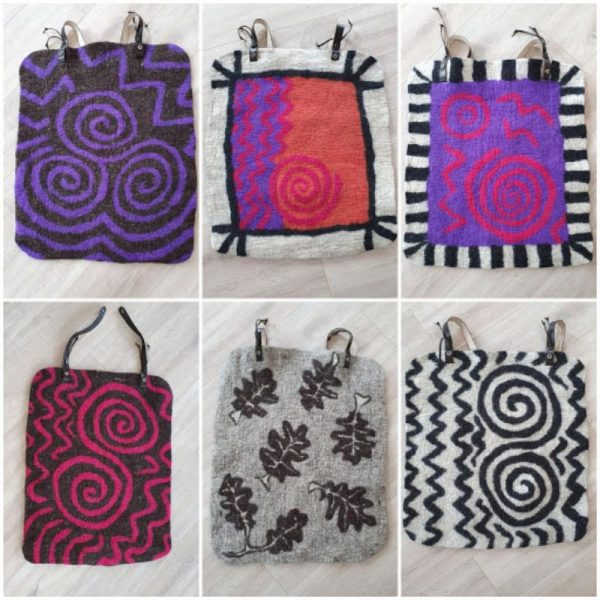 Collection of Bum Mats by Joan Casey