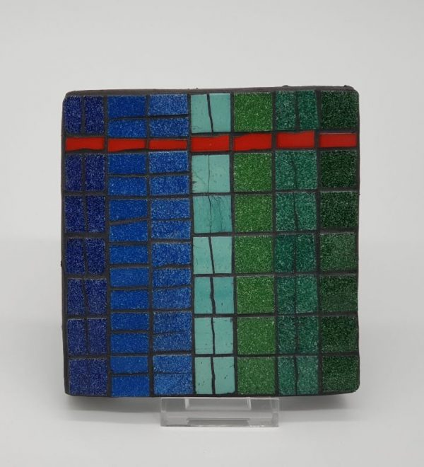 Large Mosaic Teapot Stand by Joan Casey