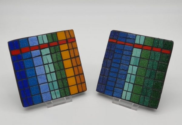 Large Mosaic Teapot Stands by Joan Casey