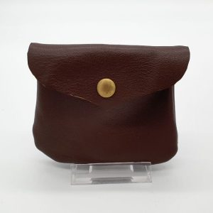 Soft, brown leather purse.